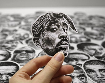 Scribbled Tupac Shakur - Vinyl Sticker