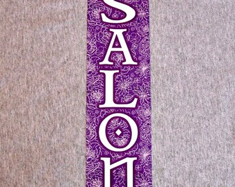 Metal Sign SALON hair dresser nails spa hairdresser beauty shop beautician nail haircut wall plaque