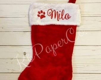 pet christmas stocking christmas stocking custom christmas stocking christmas presents monogramed - Custom Christmas Stockings