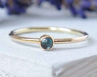 Blue Topaz Ring, Gold Ring, Stacking Rings, Topaz Ring, 9ct Gold Ring, Birthstone Ring, Gemstone Ring, Dainty Ring, Solid Gold Ring, Topaz