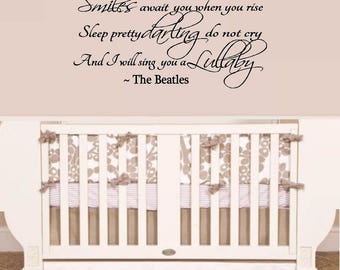 Golden Slumbers ~  Lyrics, Wall or Window Decal