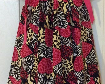 Funky Hearts Pillowcase Dress Size 3t