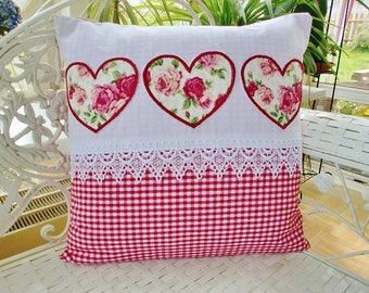 Pillow heart in a country house style