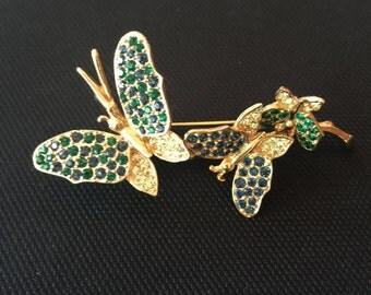Vintage Boucher Butterfly Trembler Brooch