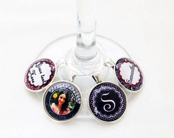 custom wine charms for bridal shower wine charm favors bachelorette party accessories