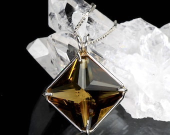 Magician Stone Pendant Citrine 'Abundance Stone' .925 Sterling Silver