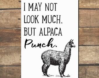 Alpaca Punch Print