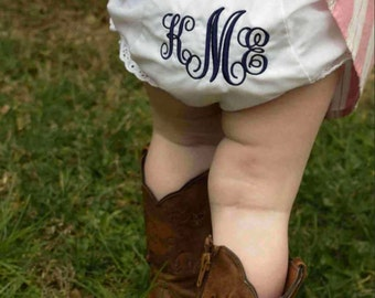 Monogrammed Bloomers | Baby Girl | Baby Bloomers | Baby Girl Accessory | Baby Shower Gift | Girl's Clothes | Cute Baby | Diaper | Baby