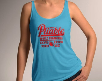"New England Football Inspired ""Pliable World Champions"" Women's Tank Top"