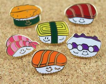 Sushi Enamel Pin Gift, Cute Enamel Pin Set, Feminist Enamel Pin, Sushi Lapel Pin Set, Japanese Enamel Pin Idea, Japanese Lapel Pin,Sushi Pin