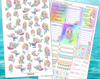 Coralia the Mermaid  Planner Stickers