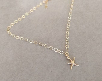 Gold Ankle Bracelet, Gold Anklet, Tiny Stars Anklet, Ankle Jewelry, Delicate Ankle, Foot Jewelry, Dainty Gold Anklet, Foot Bracelet, Anklet