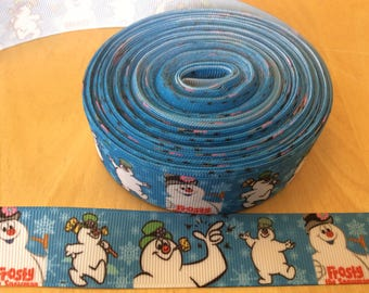Snowman ribbons, Christmas ribbons, winter ribbons, 1 inch Grosgrain ribbons, perfect for hairbows, scrapbooking and more
