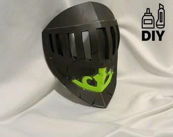 DIY For Honor: Peacekeeper mask templats for EVA foam