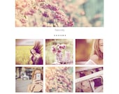 Feminine Grid Blogger Template with Post Slider Layout Responsive Blog Modern Style -  2 Templates/ FLORAISON / - Instant Download