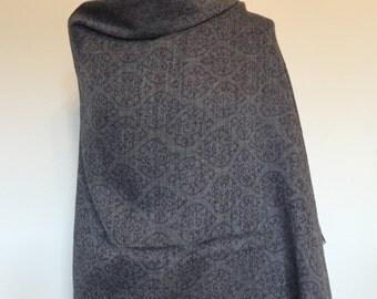 Merino Wool Block Printed Scarf/ Woollen Scarf/ Block Printed Scarf/Woollen Stole