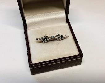 Old silver brooch Silver 925 Opal vintage SB254