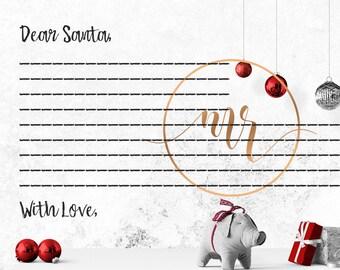 Dear Santa Letter - Fillable Postcard