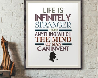 Sherlock holmes quotes, quote poster, quotes prints, digital prints, typography print, modern wall decor, quote wall art, life quotes prints