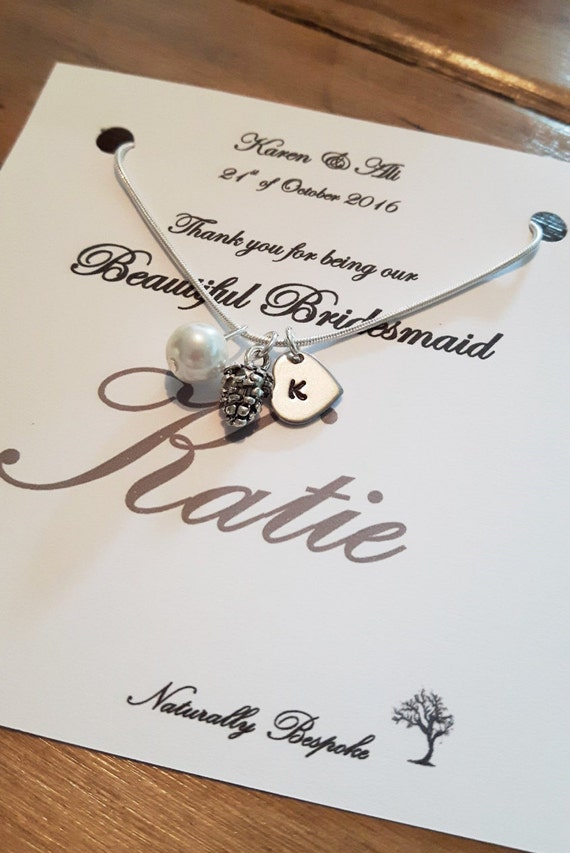 Wedding Keepsake Gifts Uk : Bridesmaid gift, bridesmaid necklace, bridesmaid, bridesmaid jewelry ...