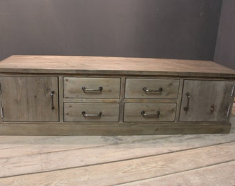 TV  Sideboard, Handmade Modern Rustic & Chunky (The Chidingly)