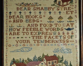 Antique Cross Stitch Sampler 1927