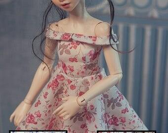 "Choose your colour! MSD BJD Clothes - ""Vintage Porcelain"" dress (Fairyland Minifee A-line) for 1/4 Girl"