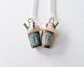 Starbucks Best Friends Necklaces - Frappucino, Starbucks, Best Friends Necklaces- Starbucks and stuff, starbucks jewelry, starbucks gifts