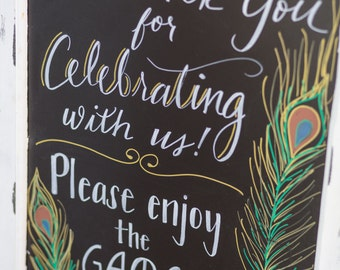 Customizable Wedding Chalkboard Sign