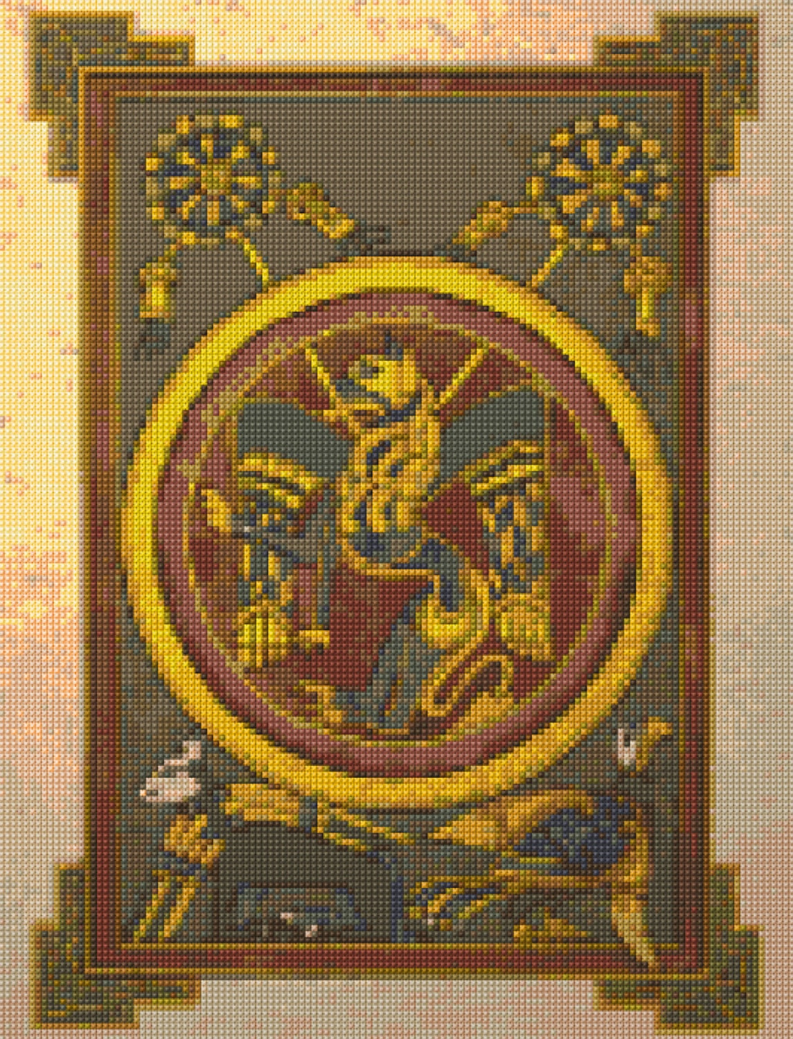 Celtic Book Of Kells Tryptych Pt 3 Cross Stitch Chart