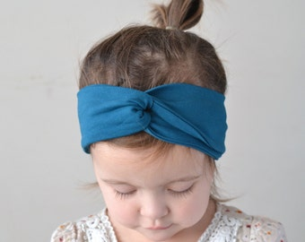 Teal Turban Headband, Headwrap, Twist Turban, Baby Turban Headband, Turban Headband