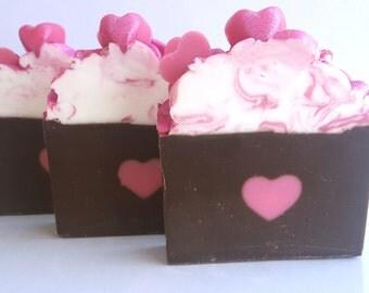 Pink Sugar Handmade Soap, Valentine Handmade Soap, Artisan Handmade Soap, Cold Process Soap