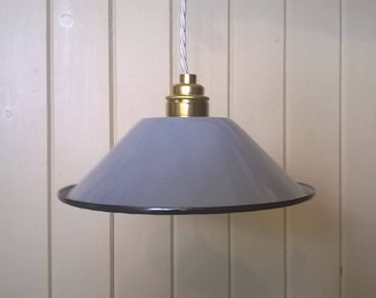 Grey Period Style Enamel Lampshade