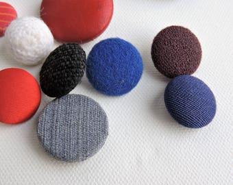 Vintage Fabric Covered Buttons