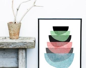 Scandinavian Art, Printable Art, Instant Download, Mid Century Modern, Modern Art,  Wall Art, Abstract Art Print, Large Wall Print