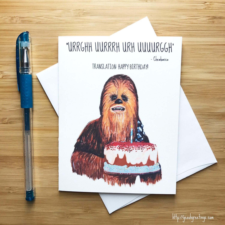 Chewbacca Birthday Card Star Wars Birthday Card Star Wars – Chewbacca Birthday Card