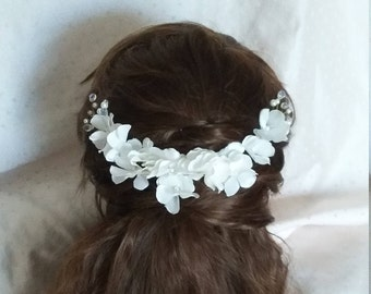 set of 11Hydrangea Flowers, Bobby Pins, Hydrangea Bridal Hair Pins, Woodland, Bridal Hair Clip, Flower Clips, Wedding Hair Accessory