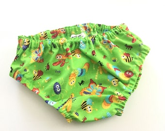 Boys Diaper Cover, Green Diaper Cover, Baby Shower Gift, Insects, Baby Boy Cake Smash, Baby Boy Photo Prop