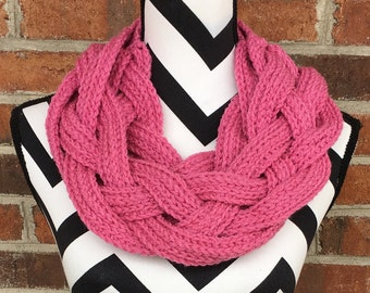 Pink Braided Cowl *FREE SHIPPING*