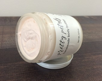Body Butter - Pretty Petals - Whipped Body Butter - Shea Butter - Body Lotion - Natural Body Butter - Skin Care - Vegan - Bath and Body