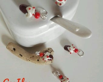Cupcake stitch markers for knitting in Murano Glass