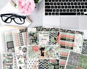 Tropical Glam No White-Space Weekly Kit - Planner Stickers