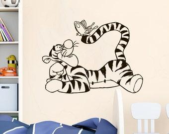 Wall Decal Winnie The Pooh Tigger Vinyl Sticker Decals Disney Art Decorations for Home Bedroom Kids Boys Girls Room Nursery Decor NS1080