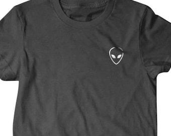 Alien T-shirt, Alien pocket shirt Funny T Shirts for Men   T Shirts for Boyfriend & Husband   Lovely Gifts for Dad   PorpoiseTs