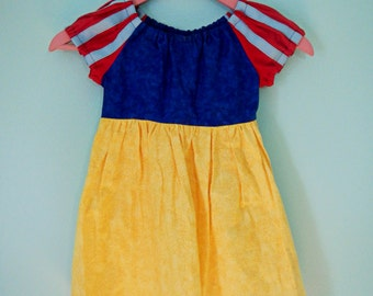 Snow White dress - Snow White costume - princess dress - cotton play dress