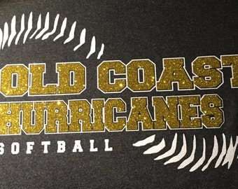 Gold Coast Hurricanes Glitter Design