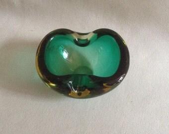 MidCentury Art Glass Ashtray