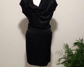 Little black dress, LBD, Party dress, Shawl dress