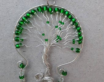 Handmade Tree of Life Necklace -- Sterling Silver