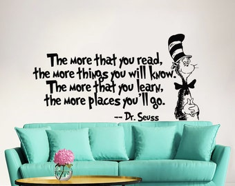 Dr Seuss Wall Decor wall decals & murals | etsy